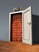 Exit door — Stock Photo