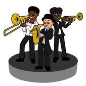 Jazz band trio — Stock Vector