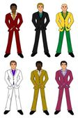 Young businessmen collection — Stock Vector