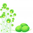 Green Easter eggs — Stock Vector