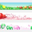 Royalty-Free Stock Vector Image: Easter eggs and chickens