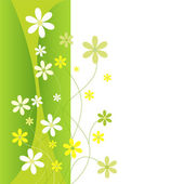 Green and yellow flowers — Stock Vector