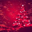 Royalty-Free Stock Vector: Christmas decoration with red tree