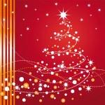 Beautiful Christmas tree — Stock Vector