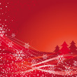 Red Christmas tree — Stock Vector