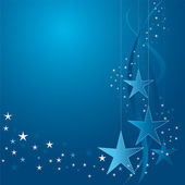 White and blue Christmas stars — Stock Vector