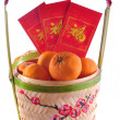 Stock Photo: Chinese new year basket