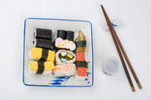 Various sushi set on a plate — Stock Photo