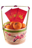 Chinese new year basket — Stock Photo