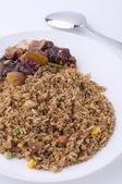 Fried rice with mantis prawn — Stock Photo