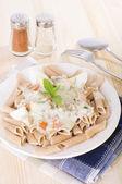 Spaghetti carbonara pasta — Stock Photo