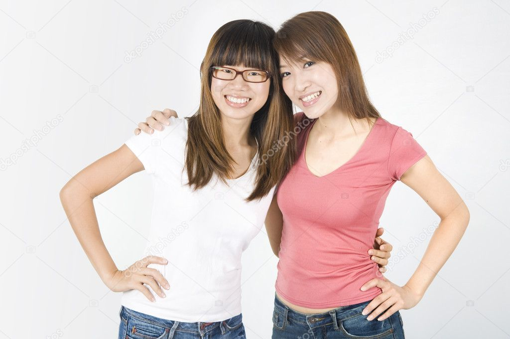 Asian college student friends female  Stock Photo #2197572