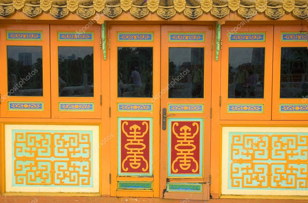 Door of a chinese temple  — Stock Photo #2520878