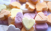 Background of candy hearts — Stock Photo