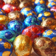 Royalty-Free Stock Photo: Background of colorful chocolate eggs