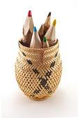 Bir kavanoza kalemler — Stok fotoğraf