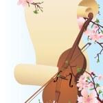 Spring violine — Stock Photo