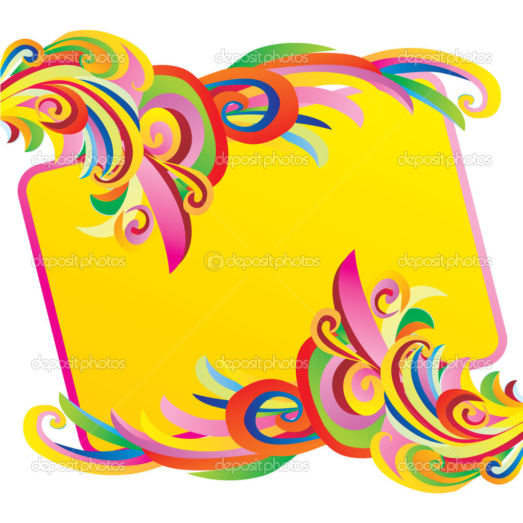 Vector illustration of colour banner with curves — Stock Photo #1945631
