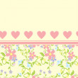Royalty-Free Stock Photo: Heart flowers vector