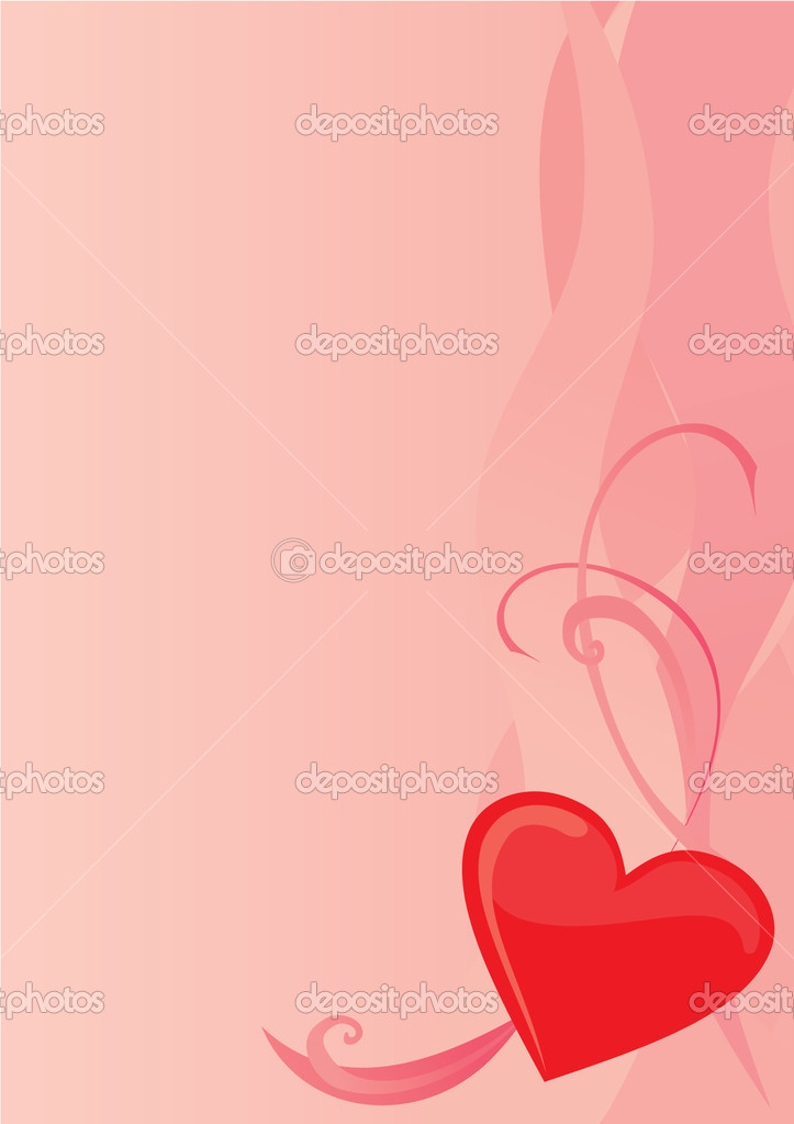 Red heart corner vector illustration — Stock Photo #2083003