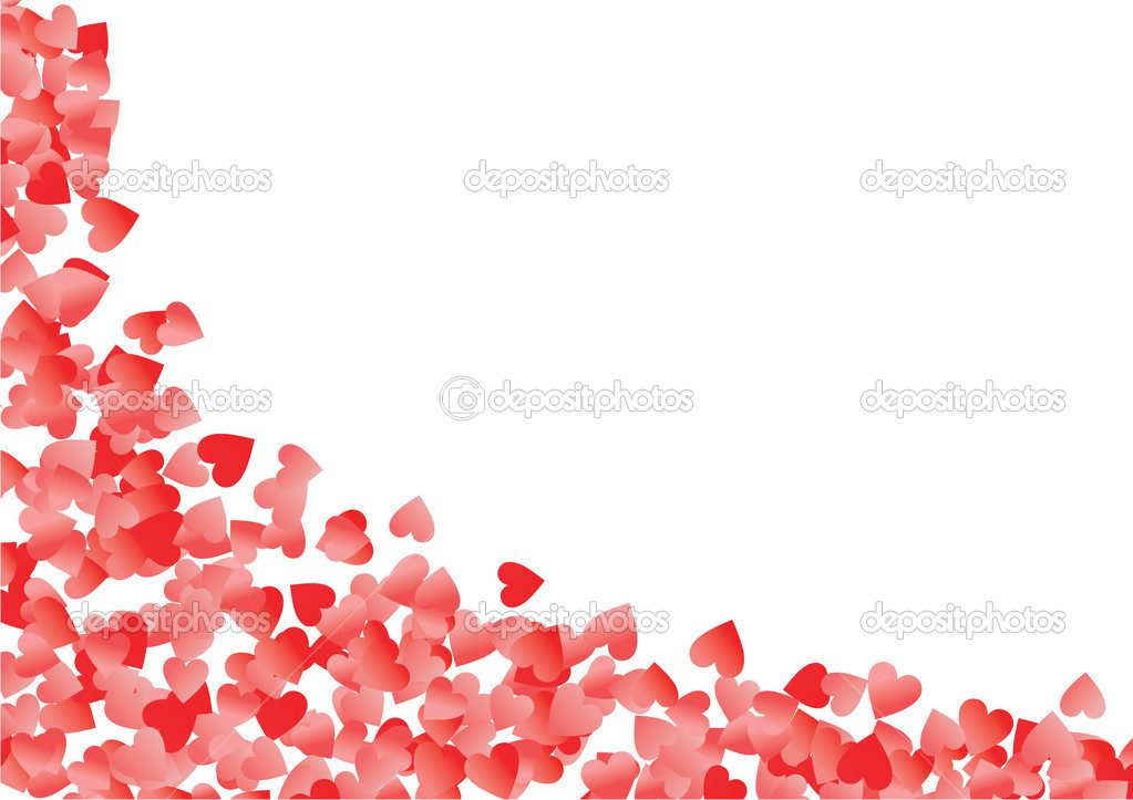 Red heart corner vector illustration  Stock Photo #2083146