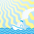 Summer boat cartoon — ストック写真 #2127176