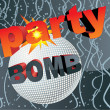 Party bomb vector concept - Stok fotoraf