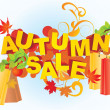 Royalty-Free Stock Photo: Autumn sale abstract vector picture