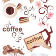Coffee cartoons set — Stock Photo