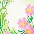 Royalty-Free Stock Photo: Vector flower green corner
