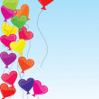 Royalty-Free Stock Photo: Heart-shaped baloons