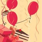Balloons party presents — Stock Photo