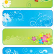 Set of 4  seasonal banners - Stock Photo