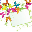 Butterflies banner — Stock Photo