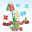 Christmas tree vector sale image - 图库照片