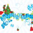 Royalty-Free Stock Photo: Vector christmas text ornamental picture