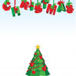 Royalty-Free Stock Photo: Vector 3D christmas text