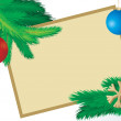 Vector christmas fir picture - Stok fotoğraf