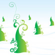Royalty-Free Stock Photo: Christmas tree vector forest winter