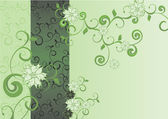 Green flowers backdrop — 图库照片