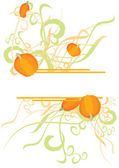 Pumpkin curves banner — Stock Photo