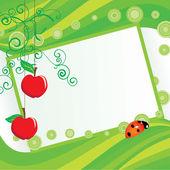 緑のリンゴのフレーム — ストック写真