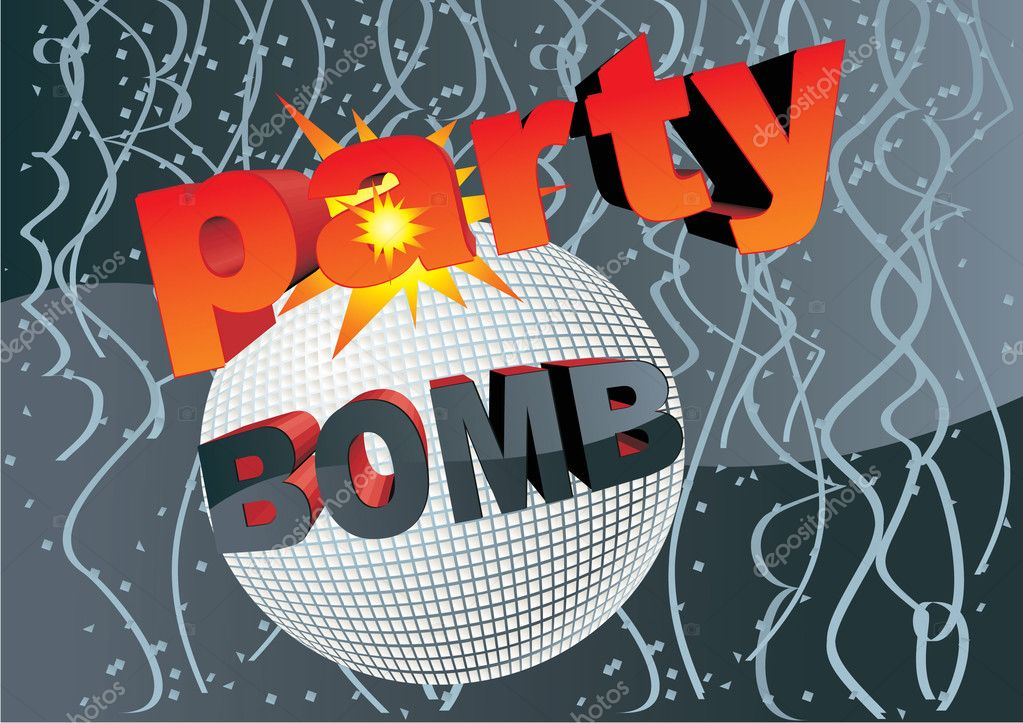 Party bomb vector concept — Stock Photo #2127644