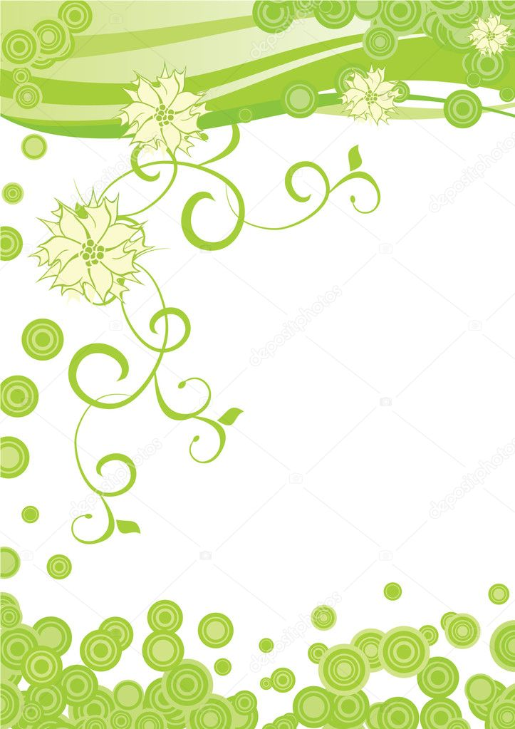 Green ornate flowers  Stock Photo #2127895