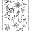 Black white ornament — Stock Photo