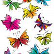 Butterflies set — Stock Photo