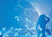 Fille bleue — Photo