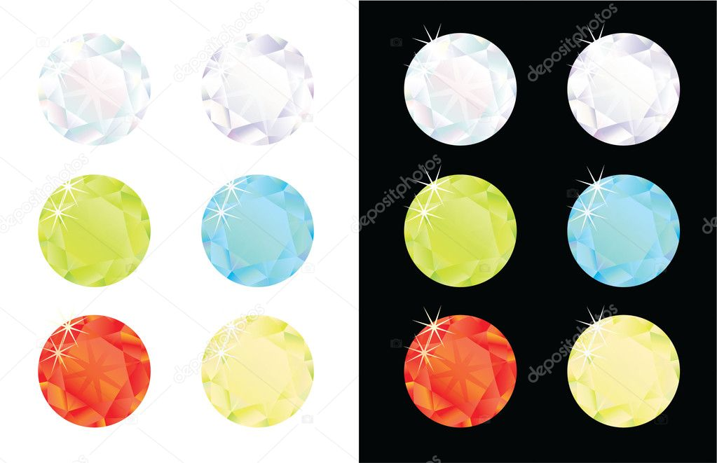 Gems on different backdrop — Stock Photo #2207061