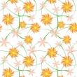 Stock Photo: Seamless flowers background