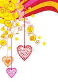 Kleur heartsbackdrop — Stockfoto